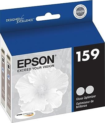 EPSON® 159 UltraChrome Hi-Gloss® 2 Photo Ink Cartridge Gloss Optimizer, Multi-pack (2 cart per pack)