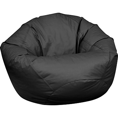 Elite Classic Large Faux Leather Bean Bag Chair Black