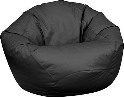 Elite Classic Large Faux Leather Bean Bag Chair, Black