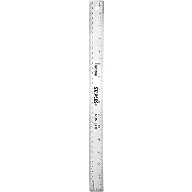 Staples® Stainless Steel Ruler, 15