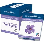 "Hammermill Premium Inkjet and Laser Paper, LETTER-size, 97/110+ US/Euro Brightness, 24lb., 8 1/2"" x 11"", 2,500/Ct"