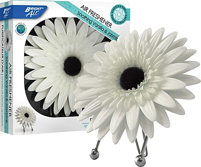 Bright Air® Daisy In Bloom™ Solid Air Freshener, Soothing Vanilla & Jasmine Scent, 3.8 Oz.