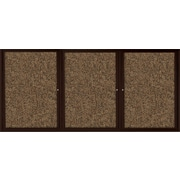 Best-Rite Enclosed Rubber Tak Bulletin Board, Coffee Finish Frame, 6' x 4'