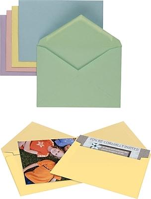 Staples Gummed Assorted Pastels Specialty Envelopes, 50/Box (20560/18682)