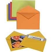 "Staples Gummed Envelopes, 4-3/4"" x 6-1/2"", Assorted Brights, 50/Box (20559)"