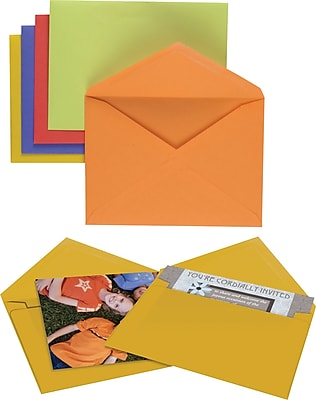 Staples Assorted Brights Specialty Envelopes, 50/Box (20559)