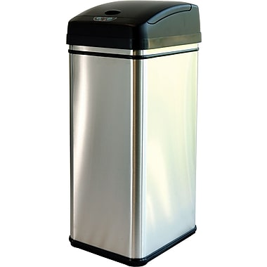 itouchless deodorizer filtered infrared sensor automatic touchless trash can 13 gal