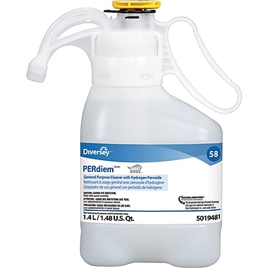Diversey® PERdiem General Purpose Cleaner with Hydrogen Peroxide, SmartDose™, 1.4 Liters