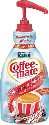 Nestle® Coffee-mate® Liquid Coffee Creamer, Pump Dispenser, Peppermint Mocha, 1.5 Liter