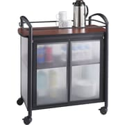"Safco Impromptu Refreshment Cart, 36 1/2""H x 34""W x 21 1/4""D, Black/Cherry (8966BL)"
