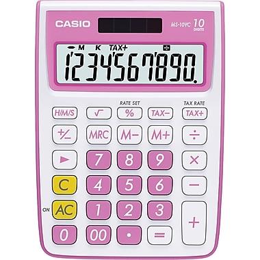Casio® MS-10VC 10-Digit Display Calculator, Pink