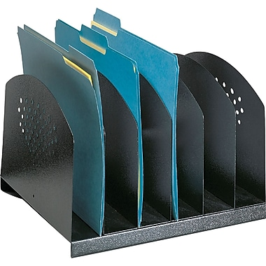 Safco® 6-Tier Steel Desk Rack, Black