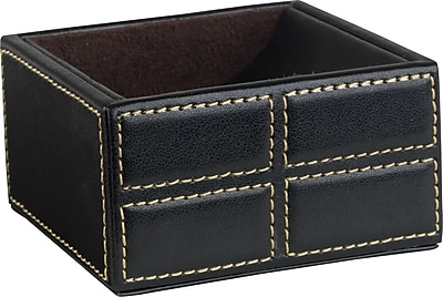 Staples Mission Faux Leather Clip Holder