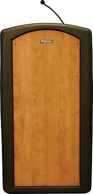 AmpliVox Sound Systems Pinnacle Sound Lectern, Medium Oak (ST3250-MO)