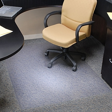 Staples® Plush-Carpet Chairmat, Rectangular, 46