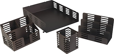 Staples® Bronze Desk Accessories Collection