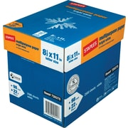 "Staples® Bright White Multiuse Paper, LETTER-Size, 98/110 US/Euro Brightness, 22 lb., 8 1/2""H x 11""W, 2,500 Sheets/Ct"