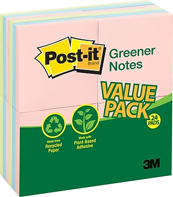Post-it® Recycled Notes, 3