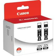 Canon® PGI-225PGBK Inkjet Cartridge Multi-pack (2 cart per pack), Pigment Black