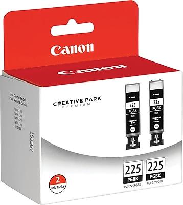 Canon PGI-225BK Black Ink Cartridges (4530B007), 2/Pack