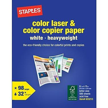 StaplesR Color Laser 85 X 11 White