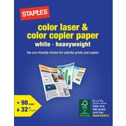 "Staples® Color Laser; 8.5"" x 11"", White, 500/Ream"