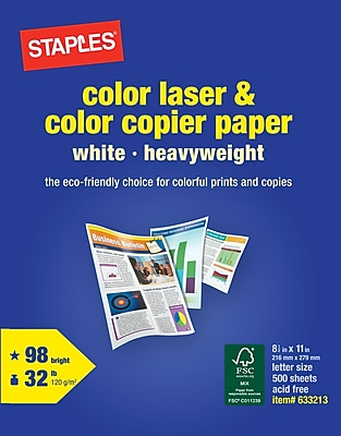 Staples® Color Laser; 8.5