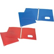 "1"" Storex® Recycled Poly Two-Pocket Binders with Round Rings"