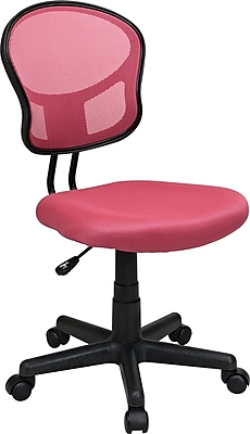 Office Star & trade, Mesh Armless Low-Back Task Chair, Pink