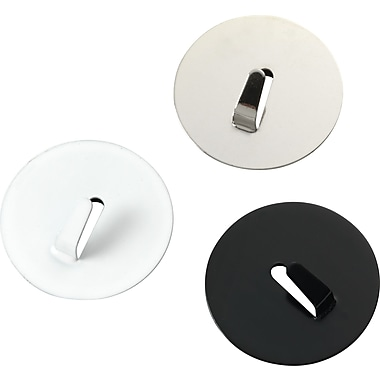 Staples® Hook Magnets, Black/Silver/White