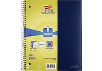 Staples® Accel Durable Poly Cover Notebook, Wide Ruled, Blue, 8' x 10-1/2'