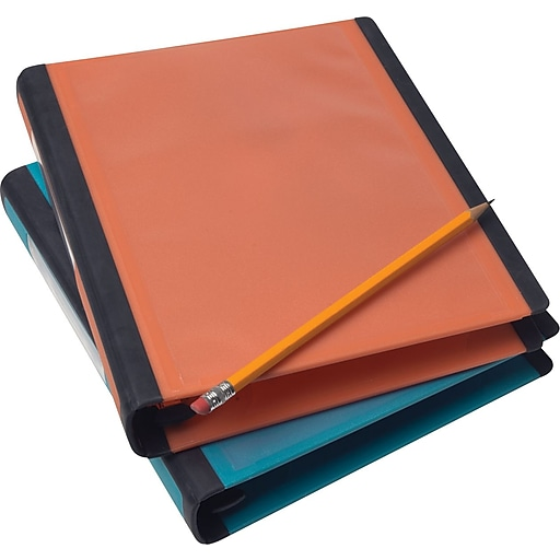 staples better mini 1 inch d 3 ring view binder orange 20944