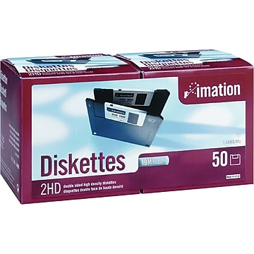 Imation 50/Pack 1.44MB Floppy Diskettes (PC Formatted)