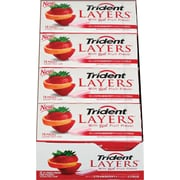 Trident Layers™ Sugar-Free Gum, Wild Strawberry and Tangy Citrus, 12 Packs/Box