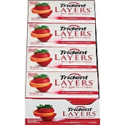 Trident Layers Sugar Free Wild Strawberry & Tangy Citrus Gum, 14 Pieces/Pack, 12/Pack (AMC60001)