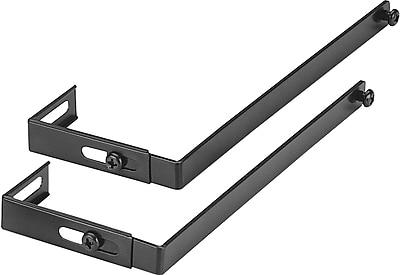 dps by Staples Black Metal Verti-Go Cubicle Accessories Universal Hanger Brackets, Vertical (DPS21651-CC)