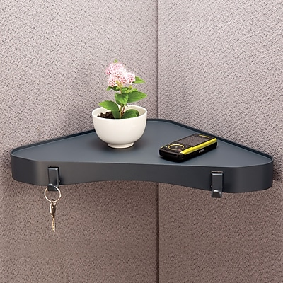 dps by Staples Recycled Materials Verti-Go Cubicle Accessories, Corner Shelf, 1 1/2