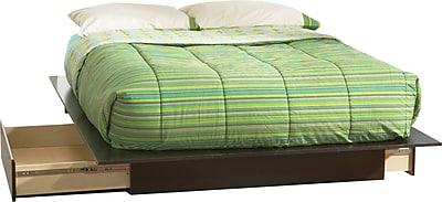 South Shore™ Element Loft Platform Bed, Chocolate, 2-Drawer, 9