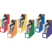"Bankers Box® 4"" Magazine File Holders, Assorted, 6/Pack"