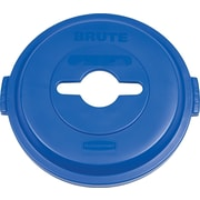 "Rubbermaid® Brute® Single Stream Recycling Top, 32 Gallon, Blue, 23 3/10""H x 9 4/5""W x 22 9/10""L"