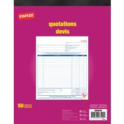Staples Quotation Forms, Duplicate, Bilingual