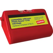 Staples E700 Replacement Postage Meter Ink Cartridge for Pitney Bowes 769-0, Red (SIP-E700-CC)