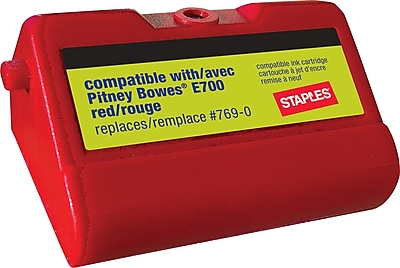 Staples E700 Replacement Postage Meter Ink Cartridge For Pitney Bowes 769 0 Red Sip E700 Cc