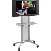 "Safco 65 1/2"" x 38"" x 20"" Impromptu Flat Panel TV Cart Gray (8926GR)"