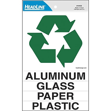 Headline Sign® Recycling Decal Kit, 6