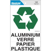"""Headline Sign® Recycling Decal Kit, 6"""" x 6"""", French"""