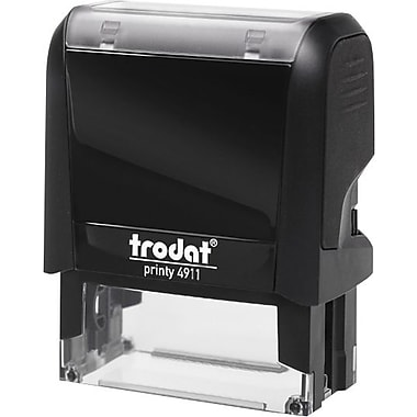 Trodat® 4911 DIY Climate-Neutral Self-Inking Stamp, 3-Line, 9/16