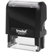 "Trodat® 4911 DIY Climate-Neutral Self-Inking Stamp, 3-Line, 9/16"" x 1-1/2"""