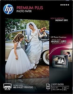 HP Premium Plus Photo Paper, 8 1/2