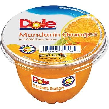Dole® Mandrin Orange Fruit Cups, 4 oz. Cups, 12 Cups/Pack